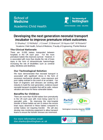 Developing the next generation neonatal transport incubator to improve premature infant outcomes