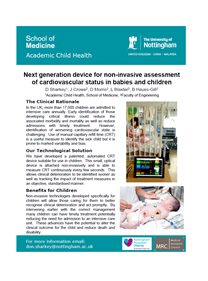 Next generation device for non-invasive assessment of cardiovascular status in babies and children