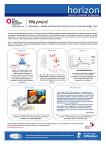 Wayward - Informatics to Identify and Inform Best Practice in Out of Hours Secondary Care